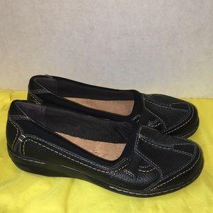Clark's size 7 soft cushion insole black leather